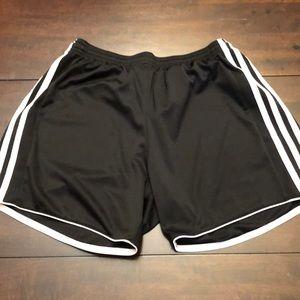 Adidas shorts.  4 inch inseam.